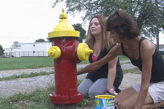 BOCES students put new coat of paint on fire hydrants throughout City of Utica_7076492463846344154