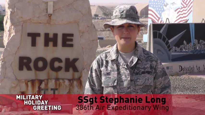 SSgt Stephanie Long - Holiday Greeting - New Hartford