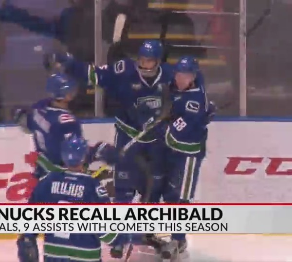 Archibald recalled by Canucks