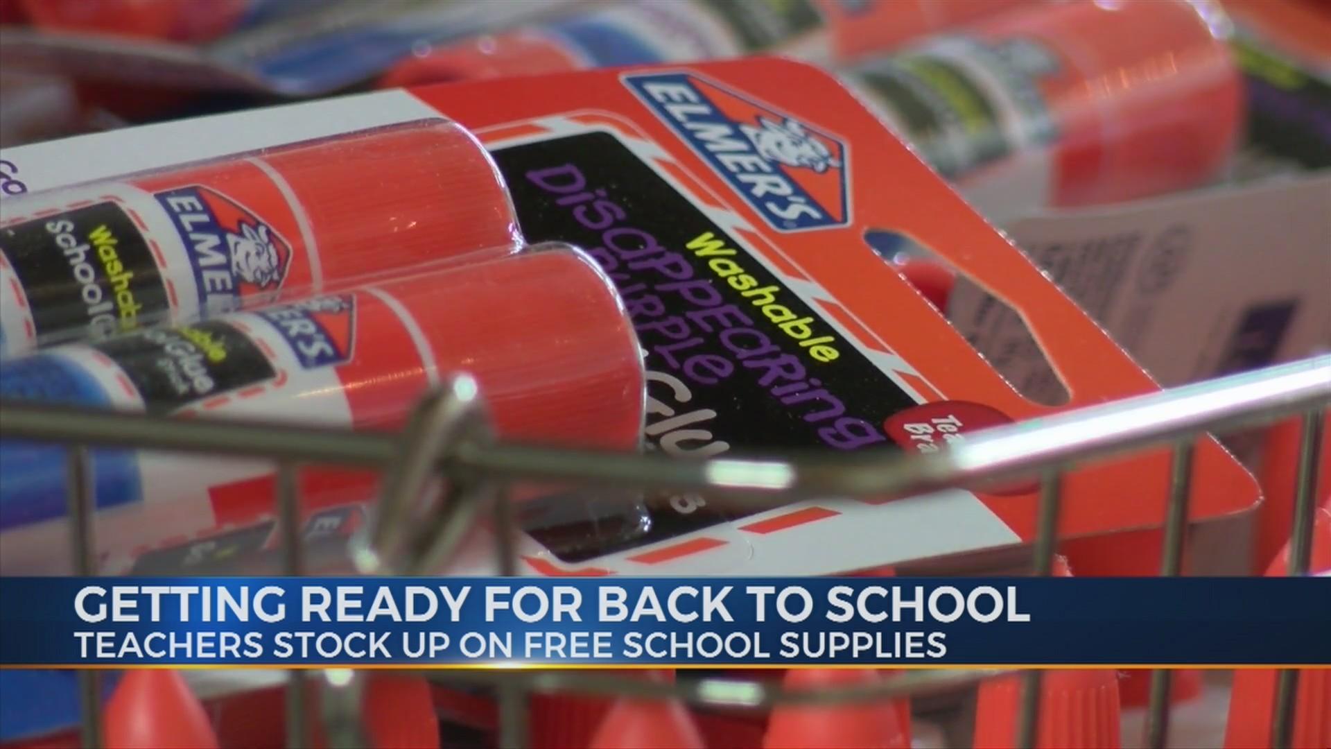 Teachers Stocking up on Free School Supplies