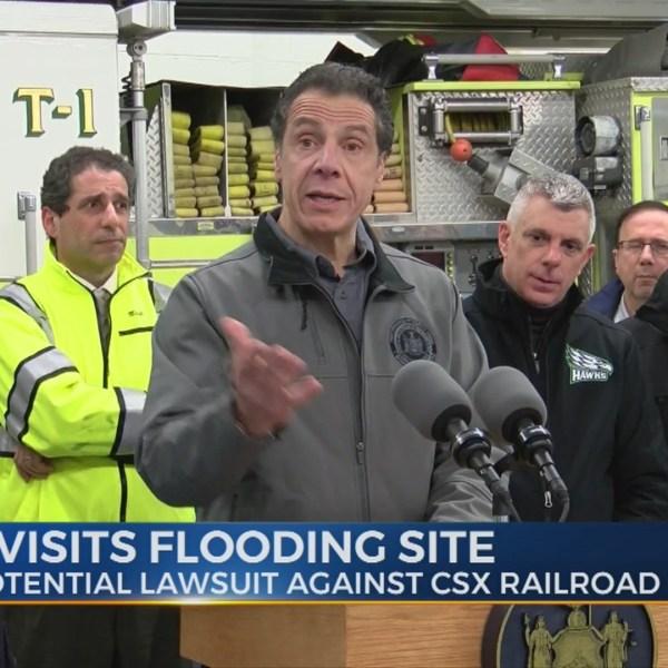 Cuomo visits area amid flooding