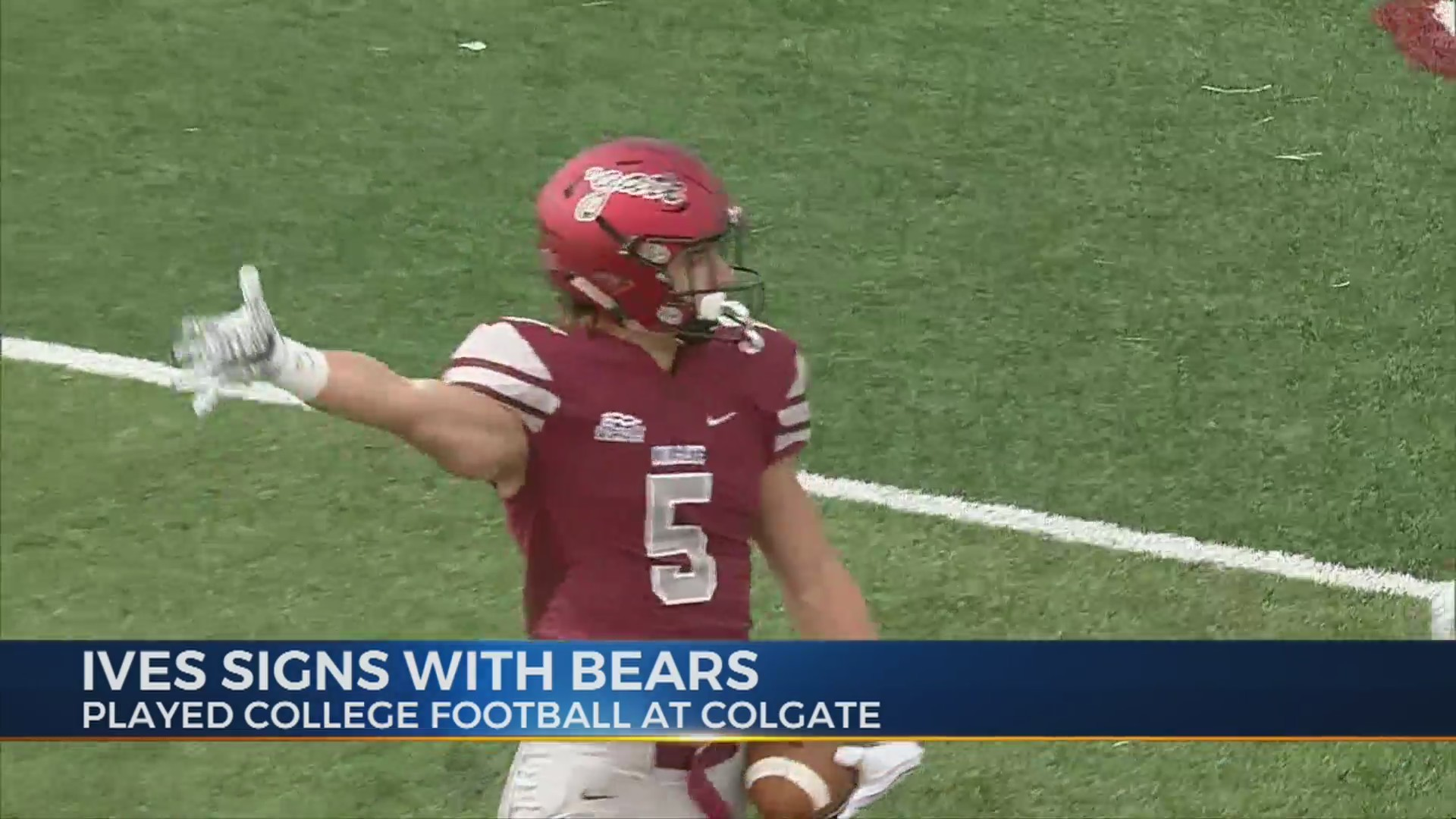 competitive price 32855 be751 Colgate's Ives signs with Chicago Bears