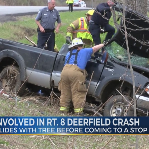 Rt. 8 Deerfield Crash Involving One Vehicle