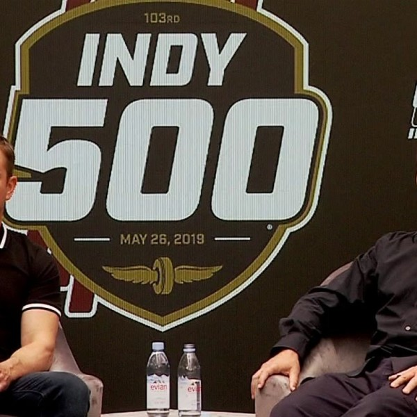 Matt Damon, Christian Bale talk racing before Indy 500