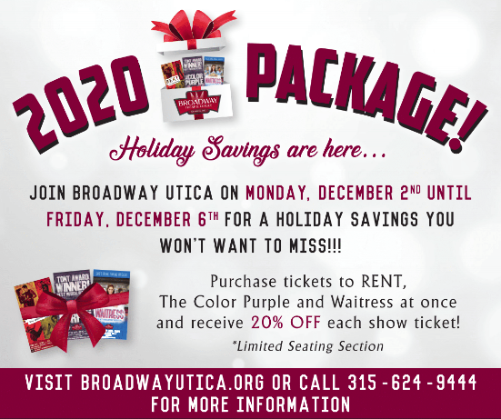 Broadway theatre league of utica holiday gift card deals 2