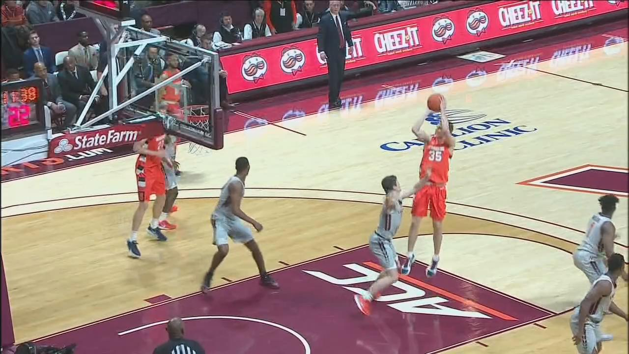 Syracuse Holds Off Virginia Tech For Acc Road Win Wutr