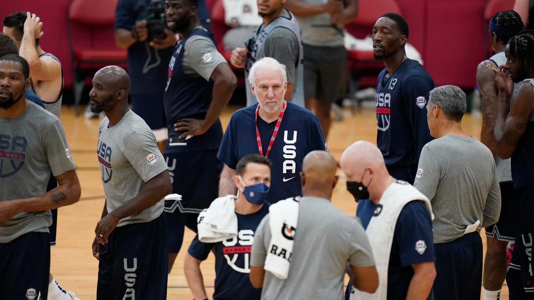 Camp Pop: US basketball team opens Olympic practice in ...
